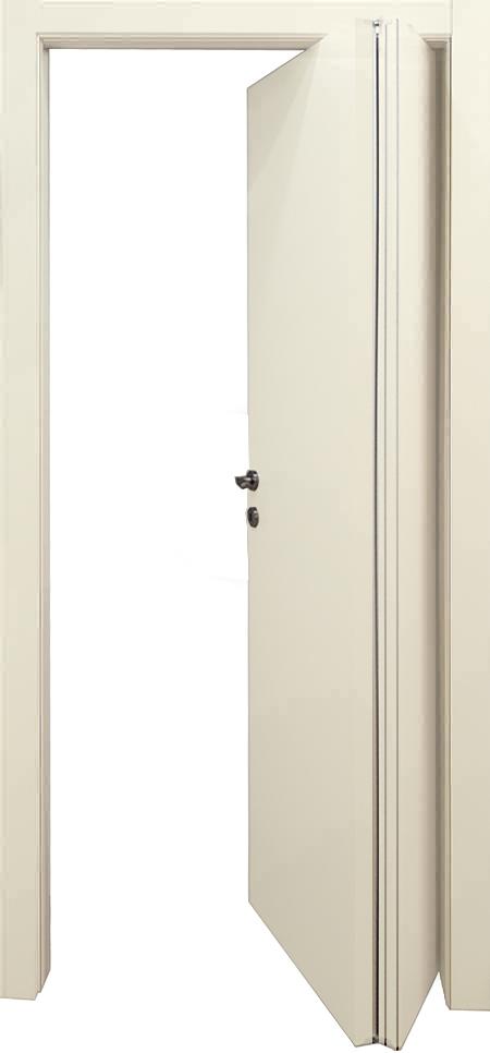 דלת הזזה מתקפלת 1/3 - 2/3 מתאימה לחללים קטנים, בולטת פנימה והחוצה עד 30 ס