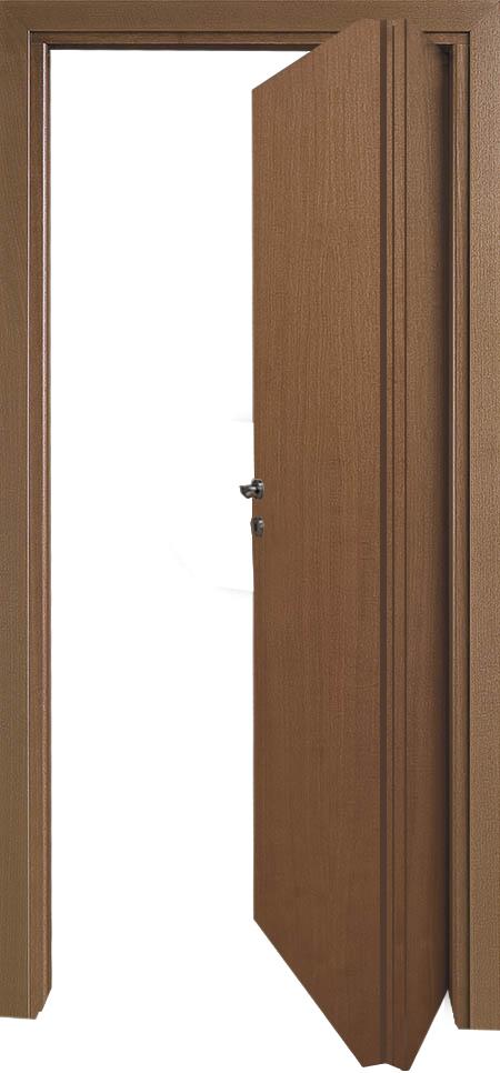 דלת מתקפלת 1/3 - 2/3 מתאימה לחללים קטנים או לחללים בהם לא ניתן לפתוח דלת פנימה, היתרון לדגם זה שבמראה החיצוני הדלת במראה זהה לשאר הדלתות בבית, יתרון נוסף - הדלת בולטת לתוך החלל עד 30 ס
