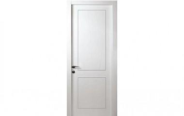 דלת פנים למינטו ביאנקו 2 פאנל בשילוב פסי ניקל