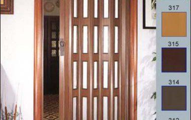 דלת הרמוניקה בשילוב זיגוג
